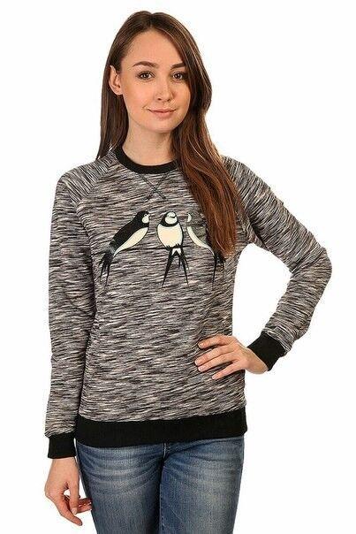 Кофта, блузка, футболка женская Запорожец Свитшот «Ласточки» - фото 1