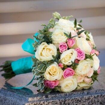 Магазин цветов Ветка сакуры Свадебный букет № 46 - фото 1