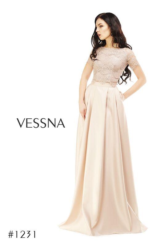 Вечернее платье Vessna Топ кружевной и Юбка длинная арт.1231 из коллекции VESSNA Party - фото 3