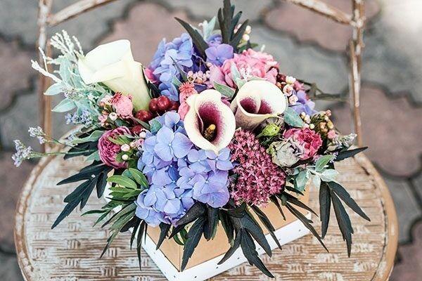 Магазин цветов Цветы на Киселева Композиция в коробке № 201 - фото 1