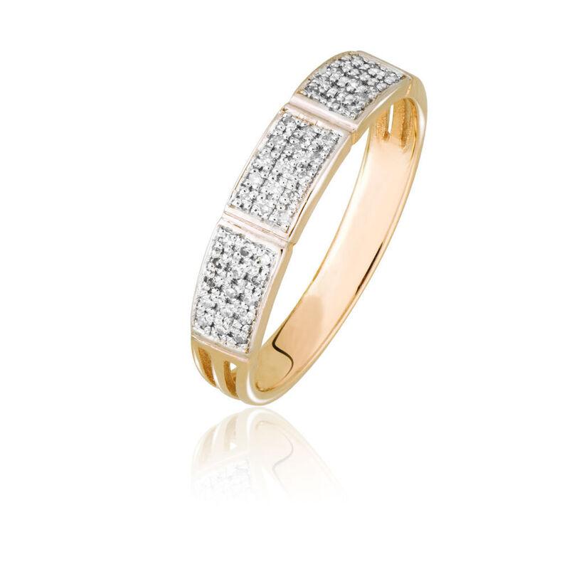 Ювелирный салон Jeweller Karat Кольцо золотое с бриллиантами арт. 1214228 - фото 1