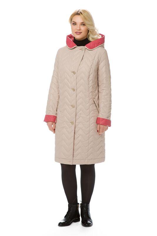 Верхняя одежда женская Elema Пальто женское плащевое утепленное Т-6835 - фото 1