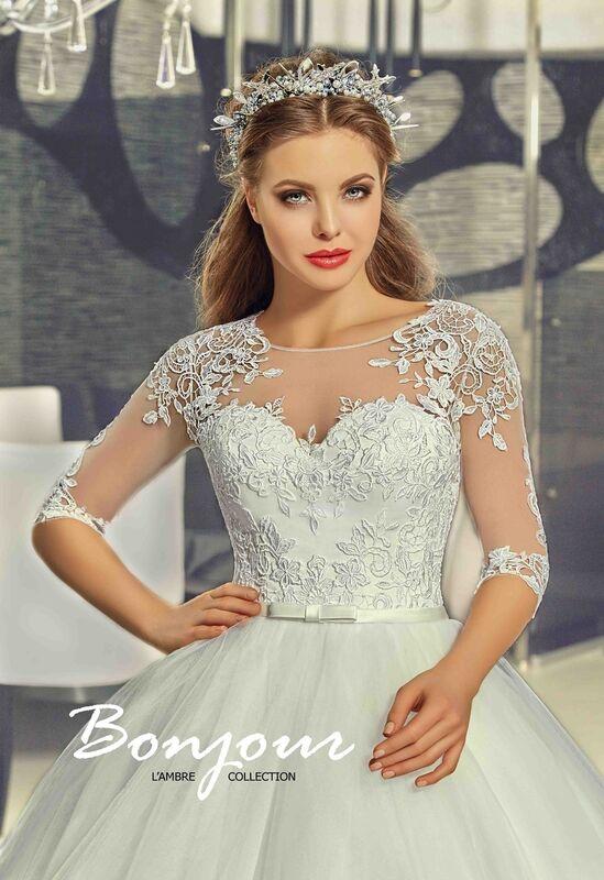 Свадебное платье напрокат Bonjour Платье свадебное «Ivet» из коллекции LAMBRE 2017 - фото 2