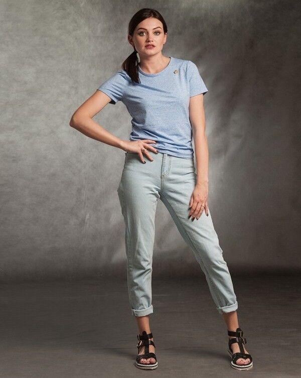 Кофта, блузка, футболка женская MISUTERI Футболка Tishatsu Blue SS0131 - фото 1