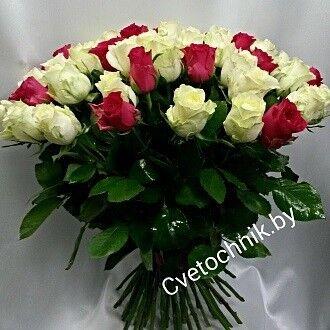 Магазин цветов Цветочник Букет из 51 розы - фото 1