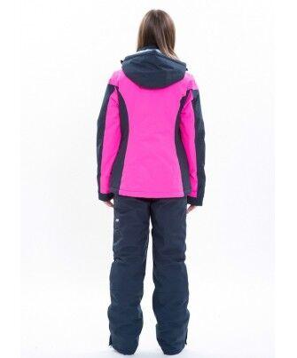 Спортивная одежда Free Flight Женская горнолыжная мембранная куртка розово-черная - фото 2