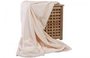 Подарок Ecotex Декоративный флисовый плед 150х200 Elegance Кремовый - фото 2