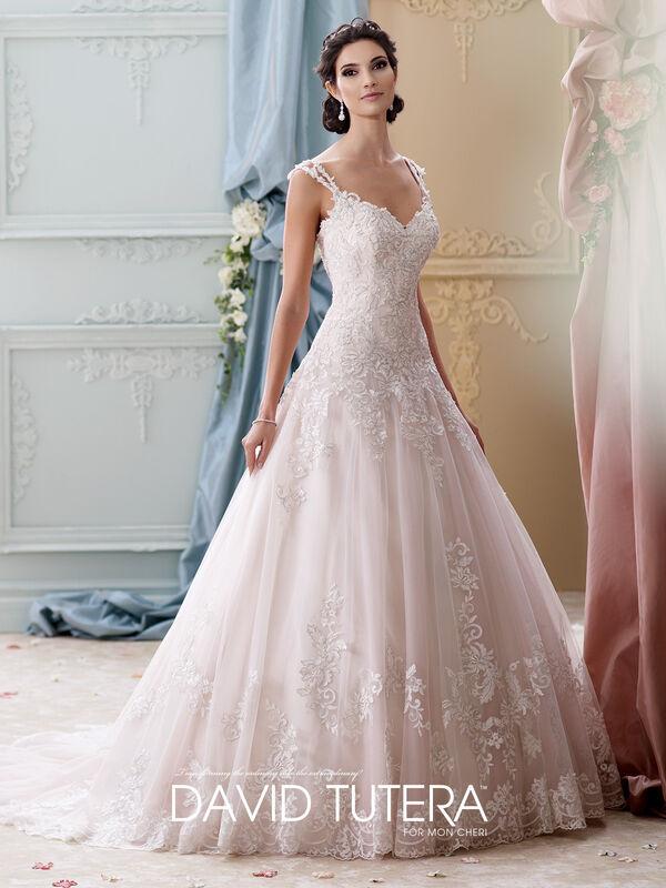 Свадебное платье напрокат David Tuttera Свадебное платье 215277 Arwen - фото 1