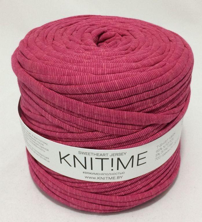 Товар для рукоделия Knit!Me Ленточная пряжа Sweetheart Jersey - Розовый лединец (SJ062) - фото 1