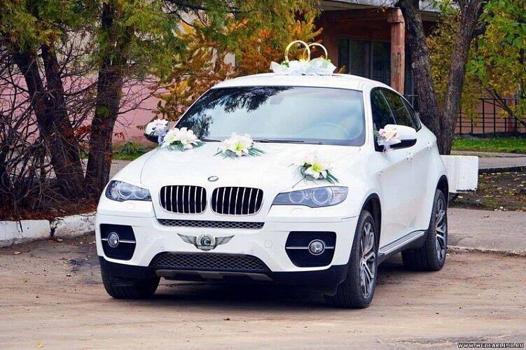 Прокат авто BMW X6 белого цвета - фото 2
