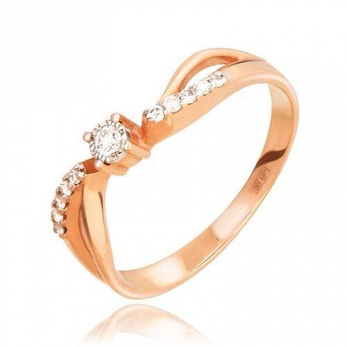 Ювелирный салон Jeweller Karat Кольцо золотое с бриллиантами арт. 3212772/9 - фото 1