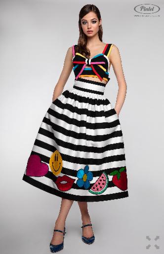 Платье женское Pintel™ Комплект из топа-бюстье и юбки Claire - фото 2