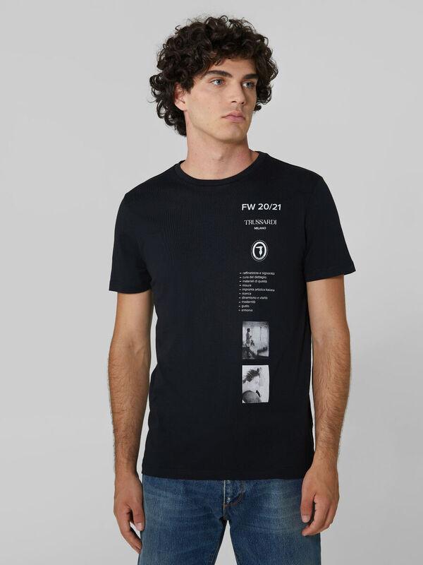 Кофта, рубашка, футболка мужская Trussardi Футболка мужская 52T00393-1T003605 - фото 1
