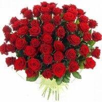 Магазин цветов Ветка сакуры Букет из 51 розы - фото 1