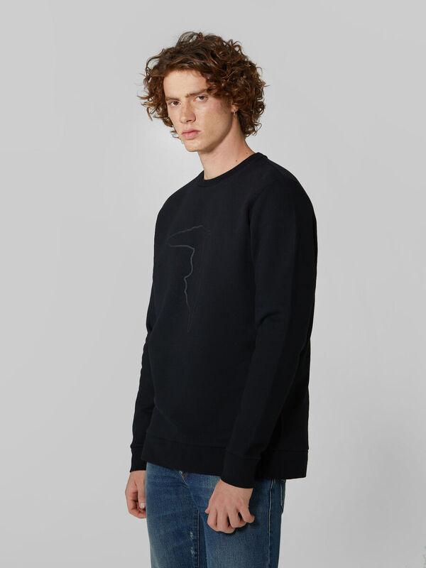 Кофта, рубашка, футболка мужская Trussardi Толстовка мужская 52F00147-1T003041 - фото 1