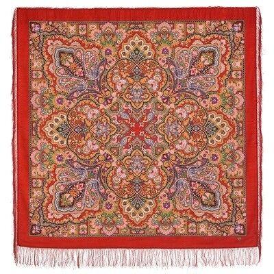 Шарф и платок Павловопосадская мануфактура Платок шерстяной «Королева красоты» - фото 3