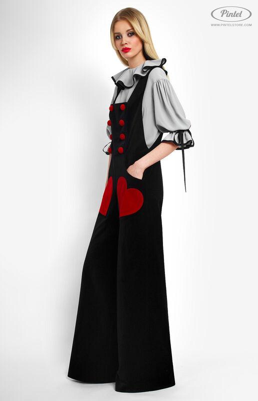 Костюм женский Pintel™ Костюм из блузы и бархатного комбинезона Refka - фото 2
