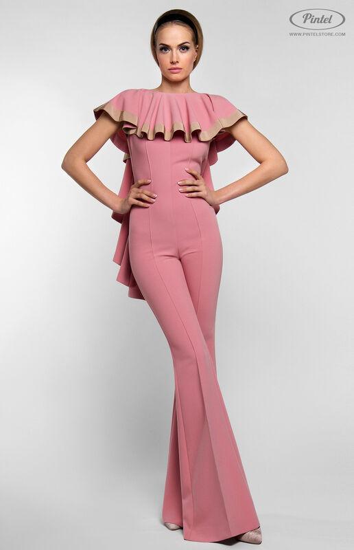 Брюки женские Pintel™ Приталенный розовый макси-комбинезон Linnea - фото 4