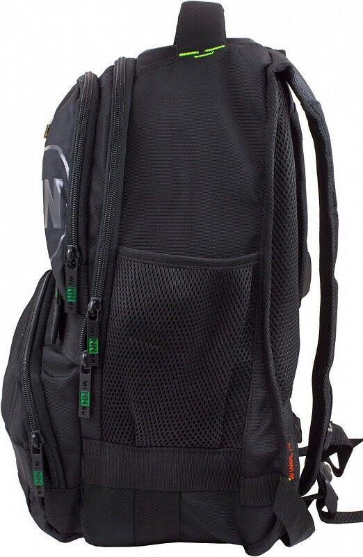 Магазин сумок Winner Рюкзак школьный черно-зеленый 391 - фото 2