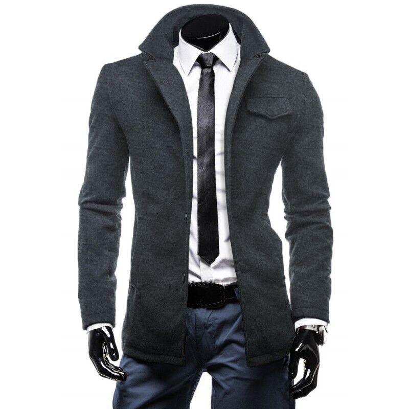 Верхняя одежда мужская Revolt Пальто серое Enos 1 - фото 1