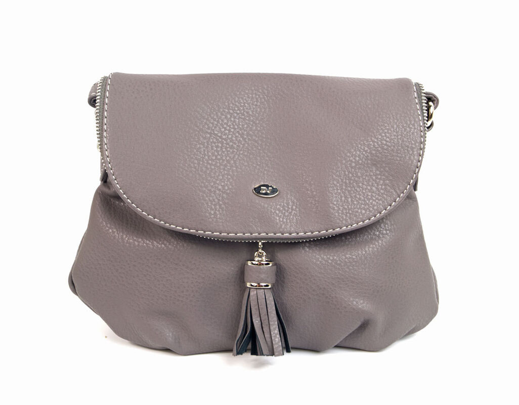 Магазин сумок David Jones Сумка женская серая 5540А-1 - фото 1