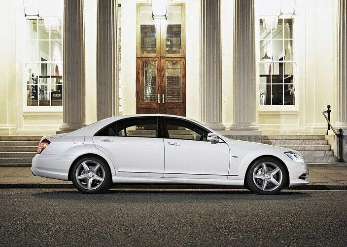 Прокат авто Mercedes-Benz W221 S-class белого цвета - фото 2