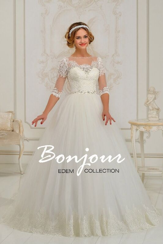 Свадебное платье напрокат Bonjour Платье свадебное «Rubina» из коллекции EDEM 2016 - фото 1