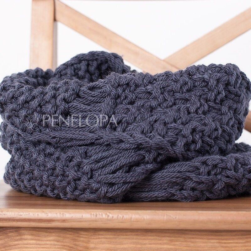 Шарф и платок PENELOPA Шарф-снуд «Cерый грифель» M101 - фото 1