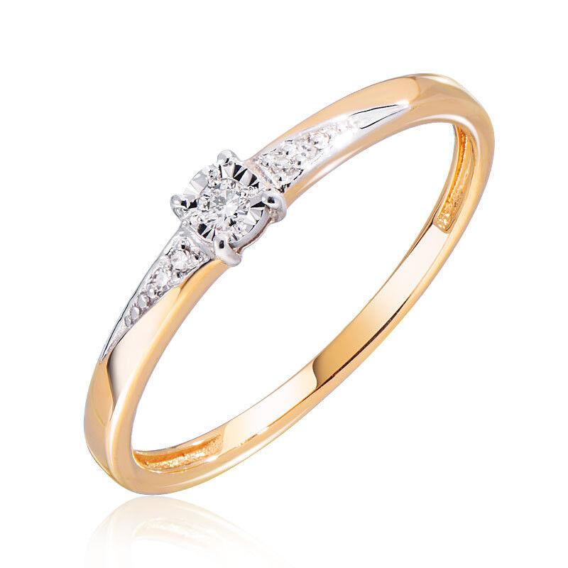 Ювелирный салон Jeweller Karat Кольцо золотое с бриллиантами арт. 3214701/9 - фото 1