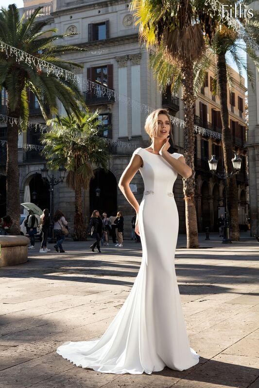 Свадебное платье напрокат Bonjour Платье свадебное «Fillis» из коллекции LA POESIE 2017 - фото 1