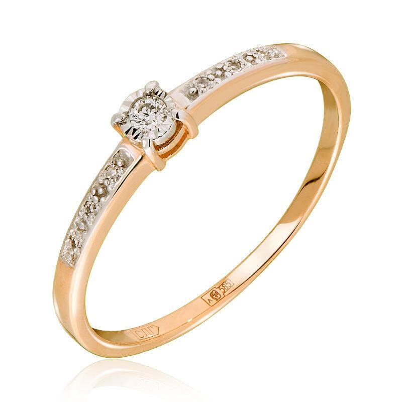 Ювелирный салон Jeweller Karat Кольцо золотое с бриллиантами арт. 3214873/9 - фото 1