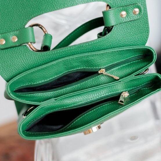 Магазин сумок Vezze Кожаная женская сумка C00471 - фото 5