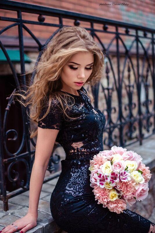 Вечернее платье Shkafpodrugi Топ и юбка из кружева с микро-пайетками - фото 6