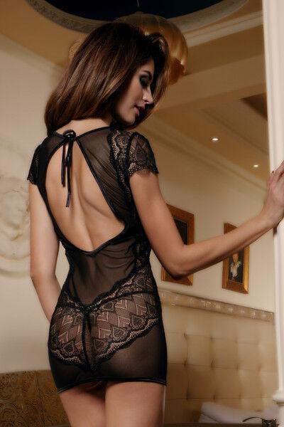 Интим-магазин Candy Girl Платье с открытой спиной и стринги, чёрные, OS арт. 840042 - фото 3