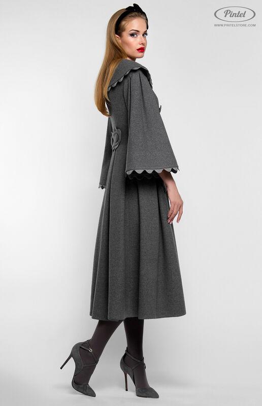 Верхняя одежда женская Pintel™ Приталенное двубортное пальто  Younis - фото 2