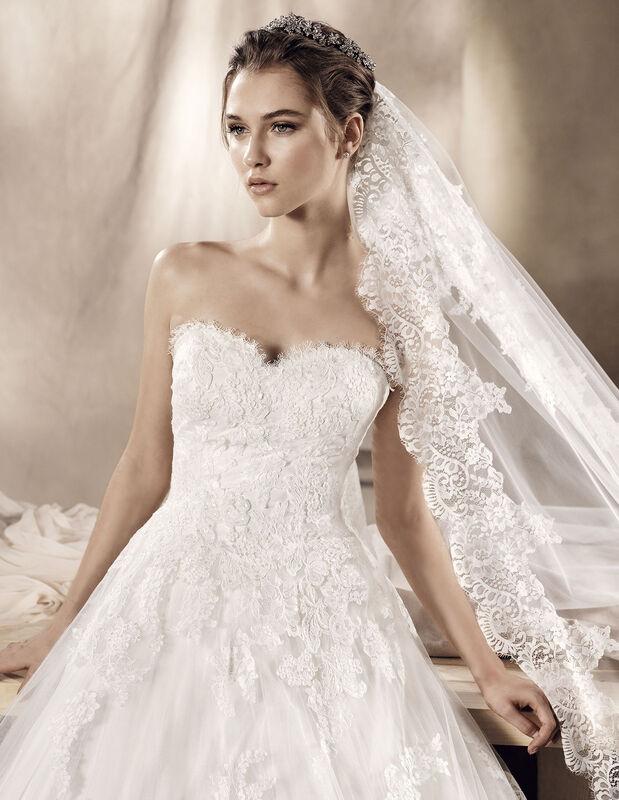 Свадебное платье напрокат White One (Pronovias) Свадебное платье Jadir - фото 3