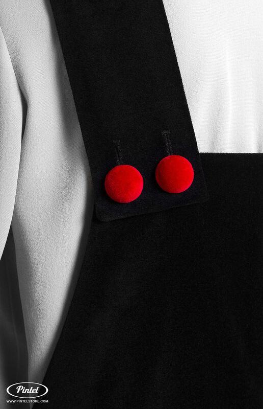Костюм женский Pintel™ Костюм из блузы и бархатного комбинезона Refka - фото 5