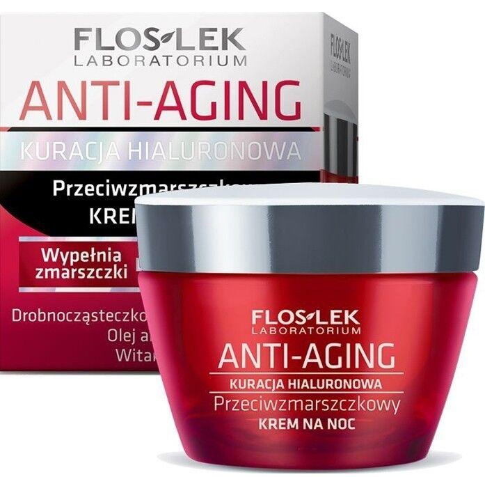 Уход за лицом Floslek Крем ночной против морщин Anti-Aging Anti-wrinkle night cream, 50 мл - фото 1