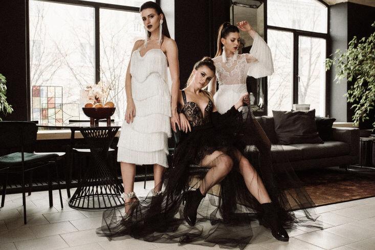 Вечернее платье Кураж Вечернее платье белое короткое - фото 2