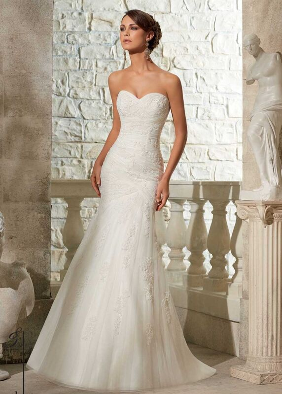 Свадебное платье напрокат Mori Lee Платье свадебное 5309 - фото 1