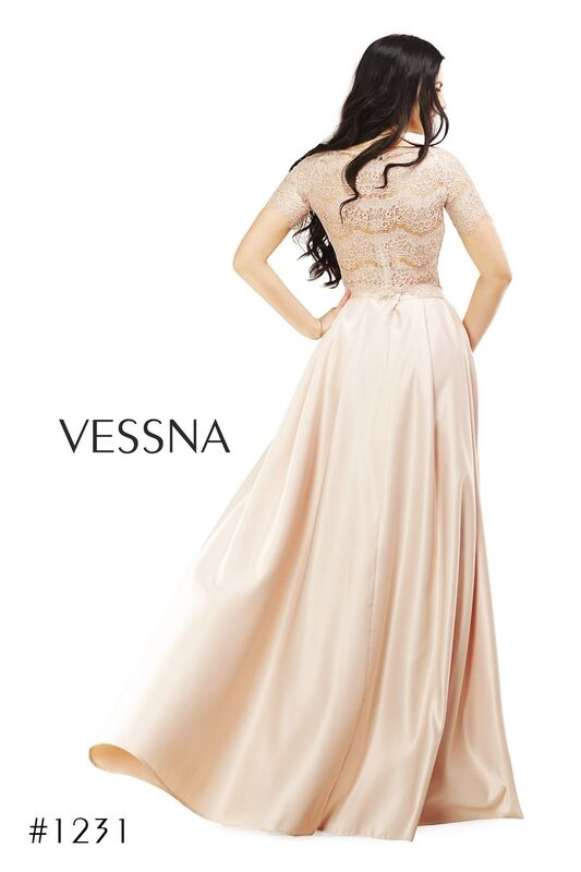 Вечернее платье Vessna Топ кружевной и Юбка длинная арт.1231 из коллекции VESSNA Party - фото 4