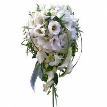 Магазин цветов Ветка сакуры Свадебный букет № 47 - фото 1