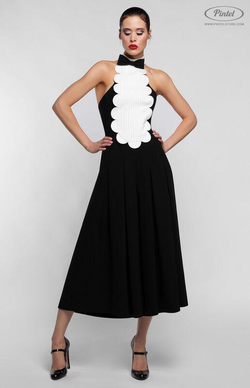 Брюки женские Pintel™ Чёрный приталенный комбинезон без рукавов Belange - фото 1