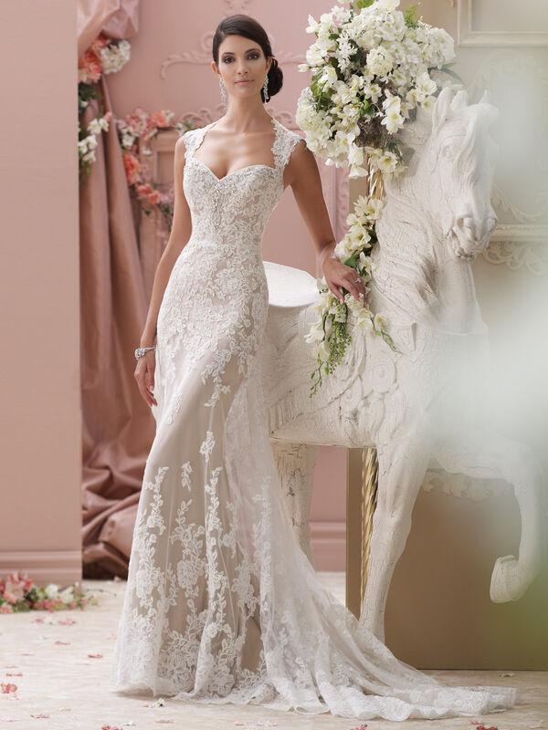 Свадебное платье напрокат David Tutera Платье свадебное 115229 Lourdes - фото 1