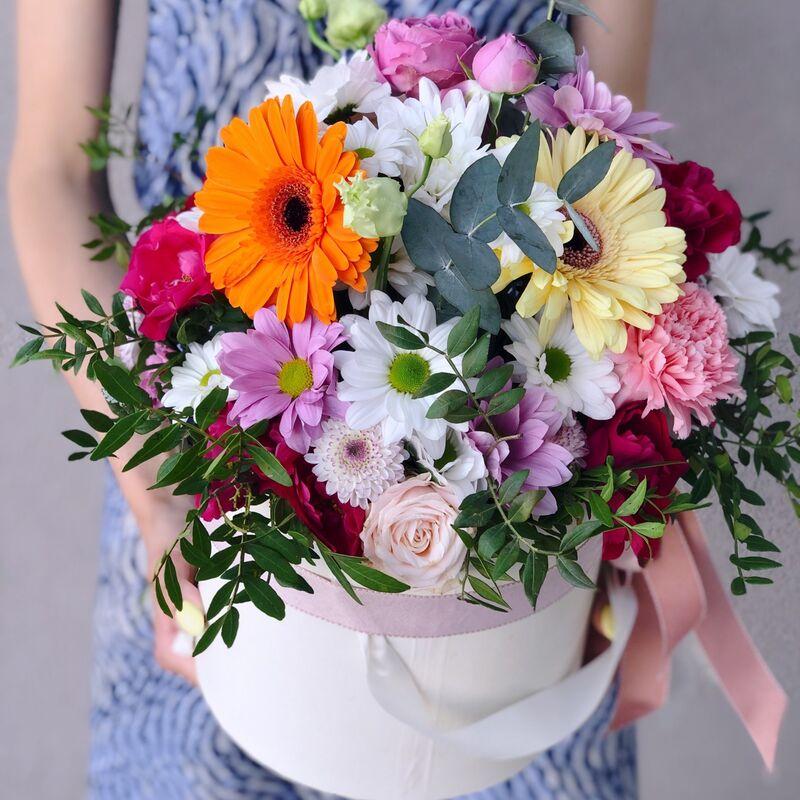 Магазин цветов Кошык кветак Коробочка классическая №12 - фото 1