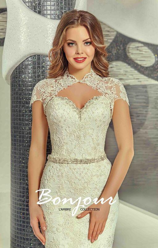 Свадебное платье напрокат Bonjour Платье свадебное «Olivia» из коллекции LAMBRE 2017 - фото 6