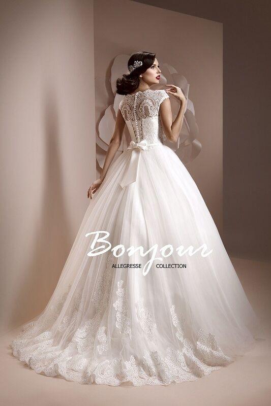 Свадебное платье напрокат Bonjour Платье свадебное «Elmira» из коллекции ALLEGRESSE 2017 - фото 2