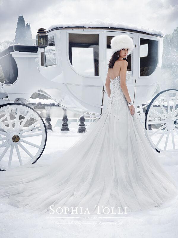 Свадебное платье напрокат Sophia Tolli Платье свадебное Y21521 Danni - фото 2