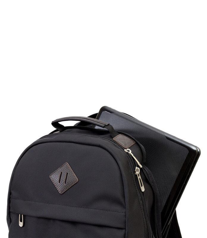 Магазин сумок Studio 58 Рюкзак молодежный с отделением для ноутбука черный 9007 - фото 3