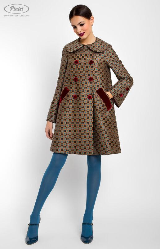 Верхняя одежда женская Pintel™ Двубортное пальто А-силуэта  Akinö - фото 1